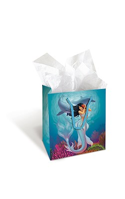 Small Gift Bag, IH Mermaids Sunny/Jewel *