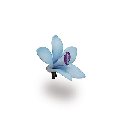 Foam Orchid Clip - Blue/Purple