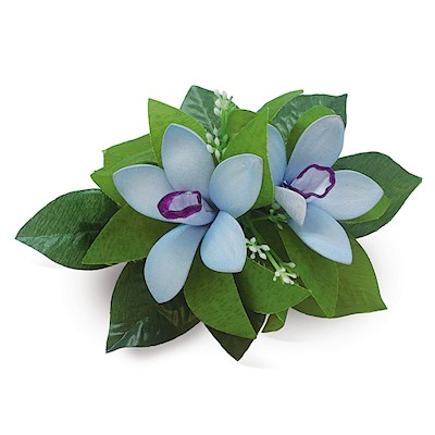 Foam Cluster Orchid Clip - Blue/Purple