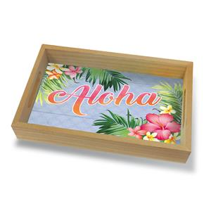 Coastal Wood Tray Small, Aloha Palm
