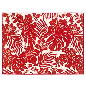 Hibiscus Floral - Red Drying Mat