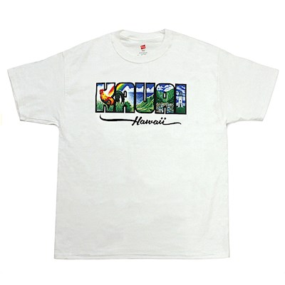 Men's T-Shirt, Eddy Y - Kauai White 3XL