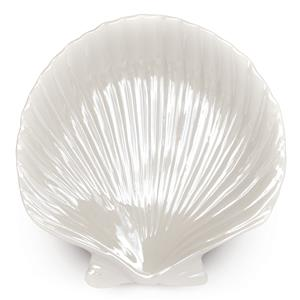 Porcelain Pearl White Shell Plate