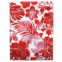 Stand-Up Zipper Pouch 6-pk, Hibiscus Floral Red