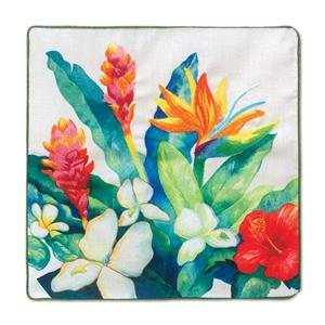 Cotton Linen 18x18 Cover, Bird of Paradise