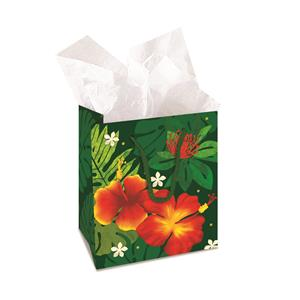 Small Gift Bag,- Floral Monstera -