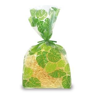 Large Cello Bags 12-pk,- Monstera Lei -