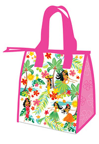 Small Insulated Tote, Island Hula Honeys - Pink