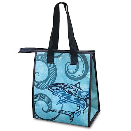 INSULATED LUNCH BAG, TRIBAL SHARK