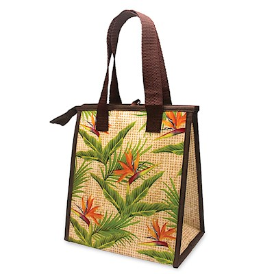 INSULATED LUNCH BAG, BIRD OF PARADISE