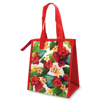 INSULATED LUNCH BAG, ISLAND BLOSSOMS