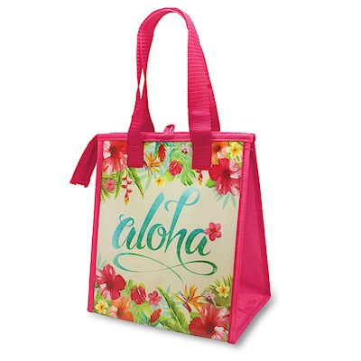 INSULATED LUNCH BAG, ALOHA FLORAL