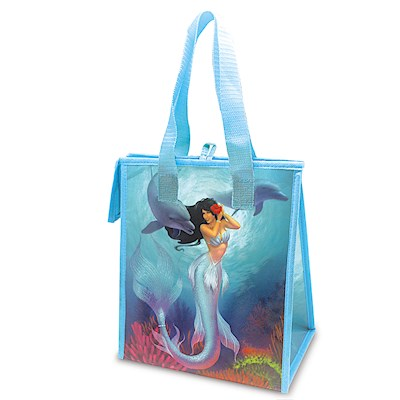 Small Insulated Tote, Island Heritage Mermaid - Sunny/Jewel