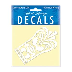 Decal Small Oblong, Tiki White