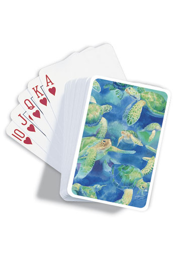 Playing Cards, Swimming Honu