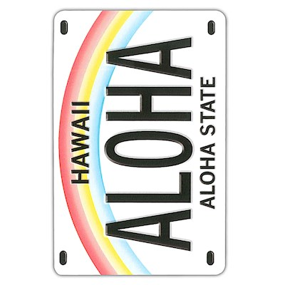 Playing Cards, License Plate - Aloha