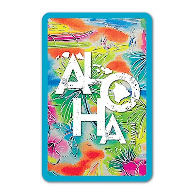 Playing Cards, Tropical Aloha