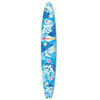 Emery Board - Surfboard, Honu Floral - Hawaii