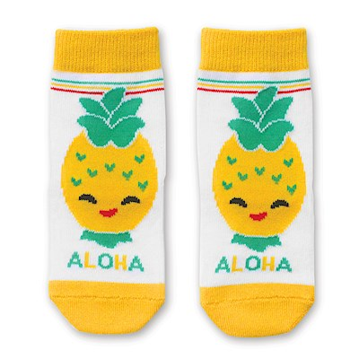 Keiki Socks, Island Yumi Friends - Pineapple Pal