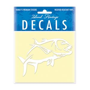 Decal Small Oblong, Ulua 2 White
