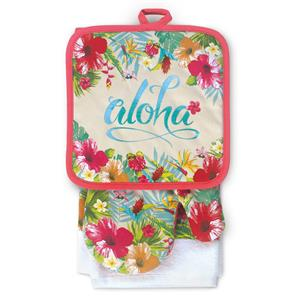 Aloha Floral Kitchen Set