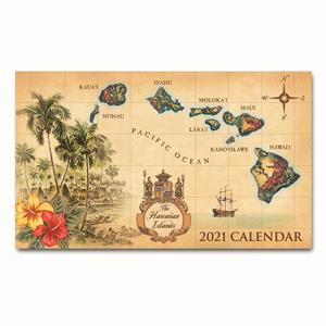 2021 Pocket Calendar, Islands of Hawaii - Tan