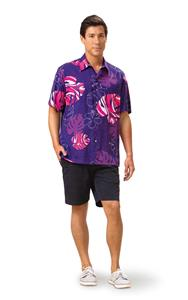 Monstera Waves II - Plum Kai Mens Classic Shirt (X-Small)