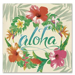 Cocktail Napkins 20-pk, Aloha Floral