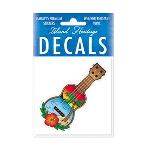 Decal Small Oblong, Paradise Ukulele