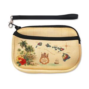 Wristlet Neoprene Islands of Hawaii Tan