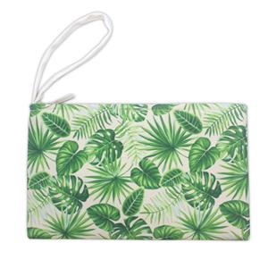 Tropical Clutch, Monstera - Green