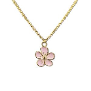 Charm Necklace, Flower - Gold