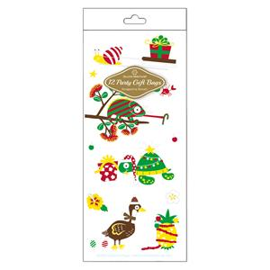 Cello Bag 12-pk SM, Festive Friends