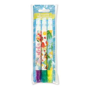 Erasable Highlighter Pens, Watercolor Honu/Life is Sweet/Island Huls Honeys (Set