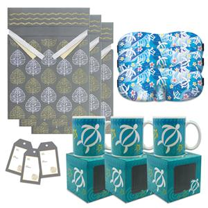 Honu Floral Mug & Eye Mask Gift Kit