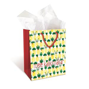 Medium Gift Bag, Mele Pineapple Parade