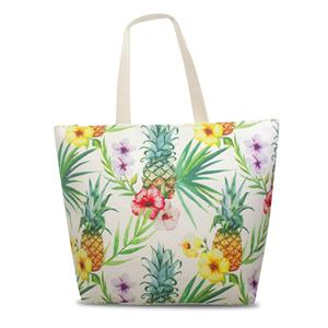 Tropical Beach Tote, Pineapple Hibiscus