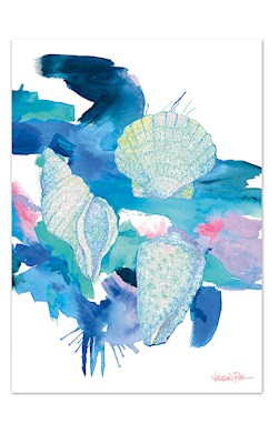 Shells Blank Greeting Card by Lauren Roth
