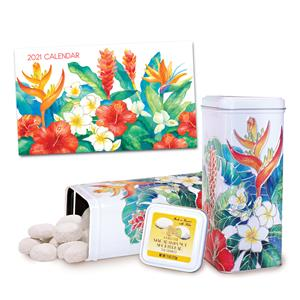 Island Garden Pocket Calendar & Tea Cookies Gift Set