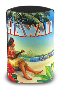 Island Can Cooler, Vintage Hawaii