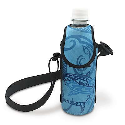 Island Bottle Cooler with Strap, Tribal Shark