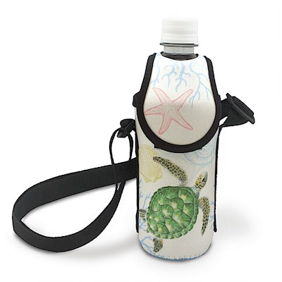 Island Bottle Cooler with Strap, Honu Voyage