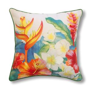 Cotton Linen 18x18 Pillow, Heliconia