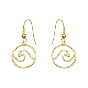 Charm Wave Earring-Gold