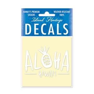 Decal Square, Sweet Aloha White
