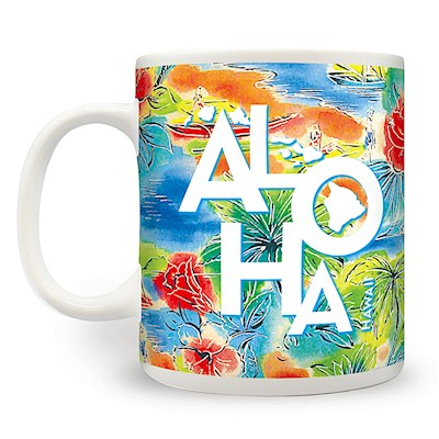 14 oz. Mug, Tropical Aloha