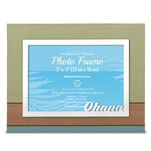IH Painted 'Ohana' 5 X 7 Wood Photo Frame