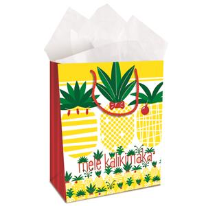 Large Gift Bag, Mele Pineapple Parade