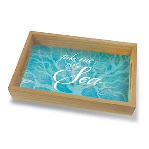 Coastal Wood Tray Small, Take Me to the Sea