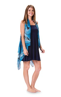 Palm Leaf Black/Blue Essential Cover Up